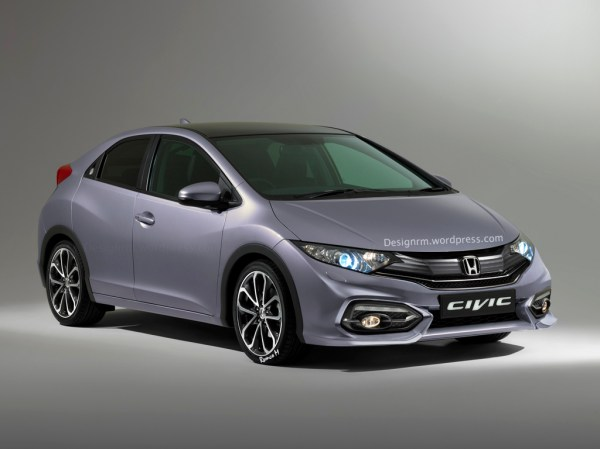 European 2015 Honda Civic Hatchback Facelift Rendered and ...
