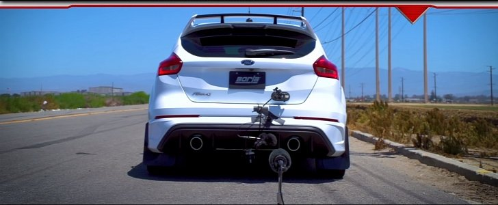 ford focus rs with borla cat back