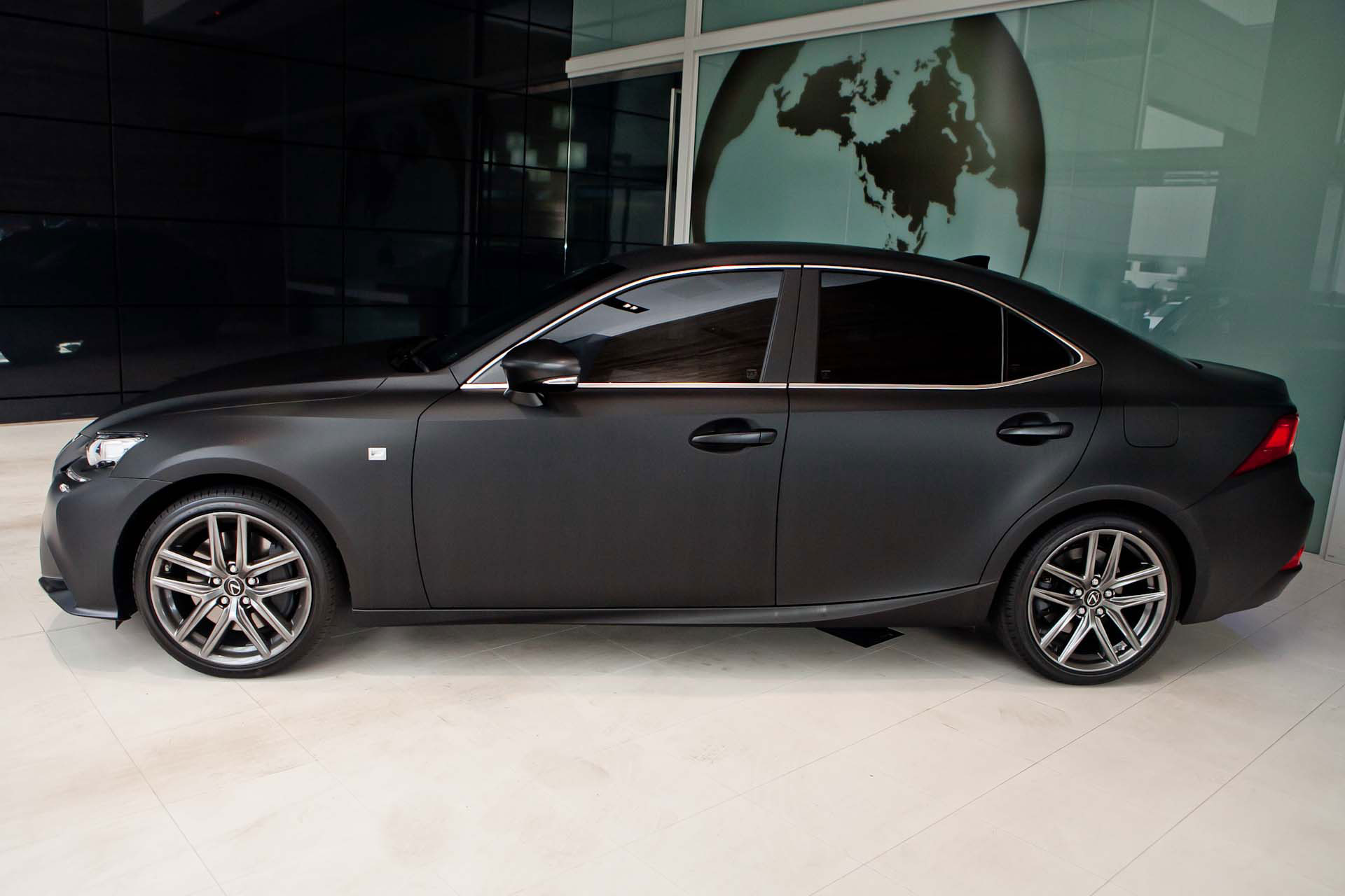 2014 Lexus IS Launched With Matte Black Wrap In Australia
