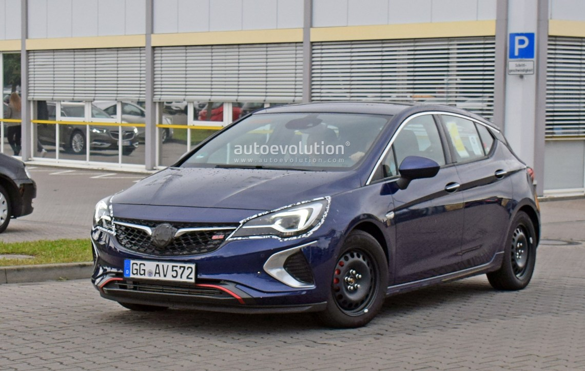 spyshots: 2019 opel astra facelift testing in germany - autoevolution