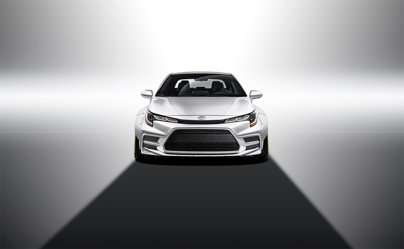 2020 toyota corolla rendered as coupe