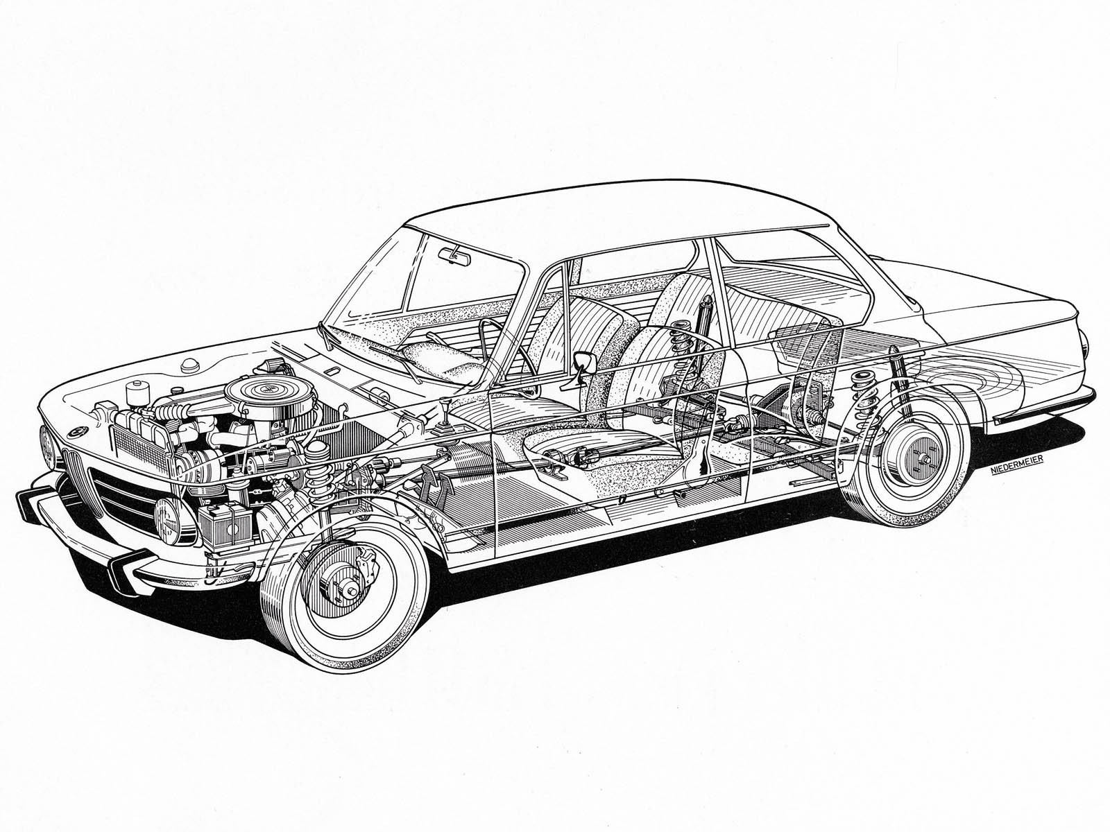 Bmw Cutaway Illustrations Are Everything You Ever Wanted