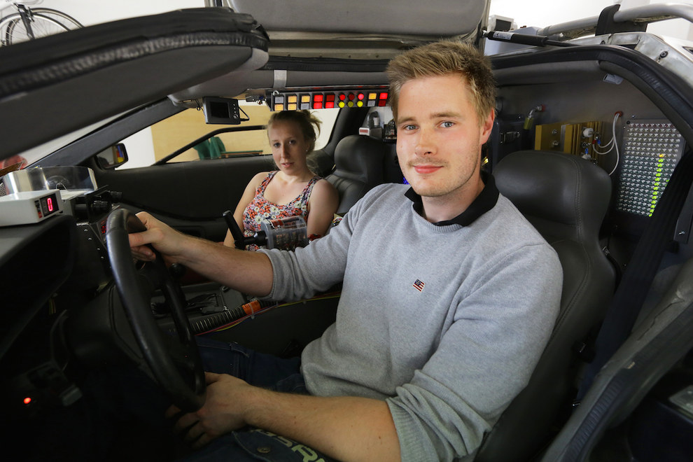 Brit Owns Real Life Back To The Future Delorean Runs
