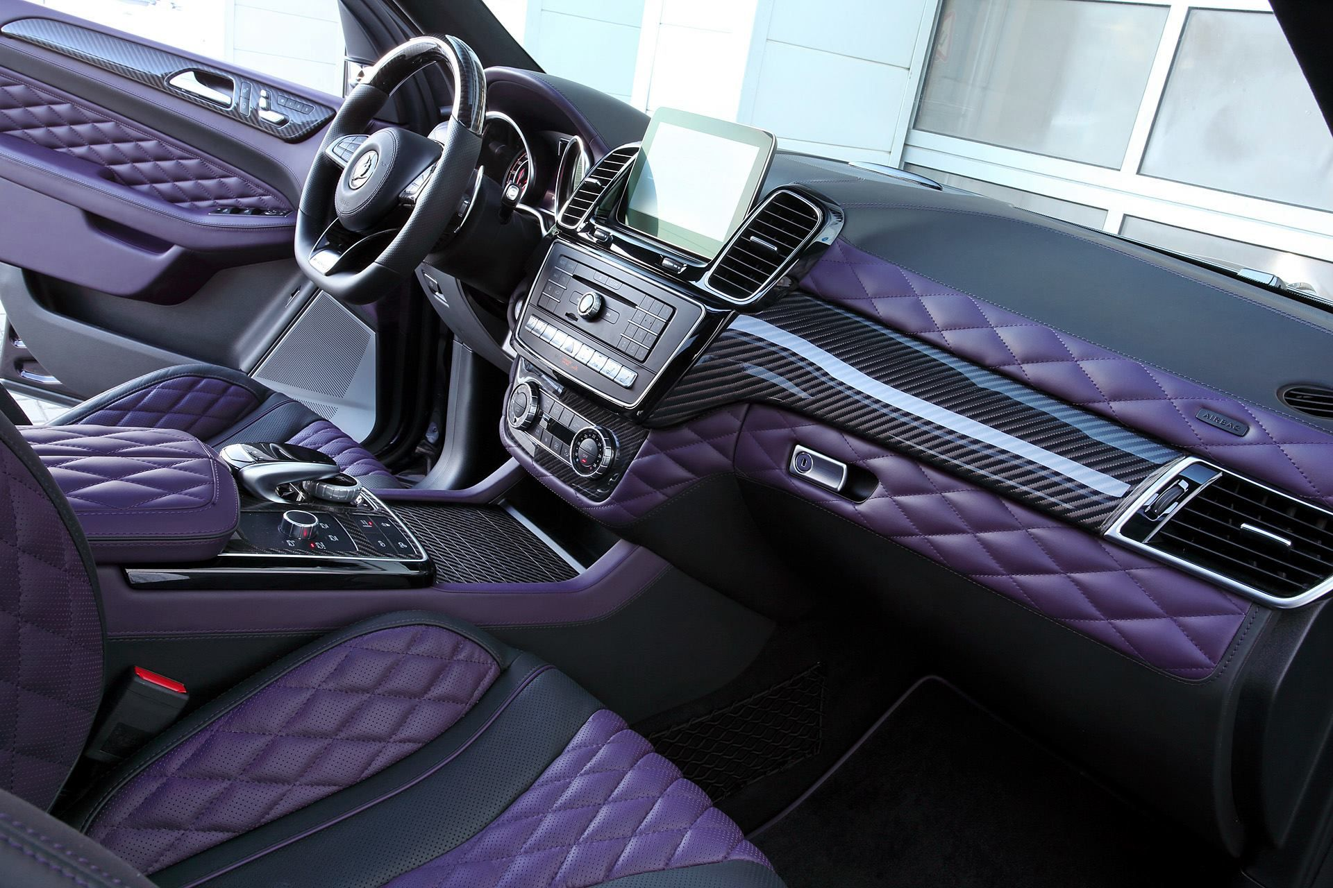 Carbon Mercedes AMG GLE 63 By Topcar Has Purple Leather