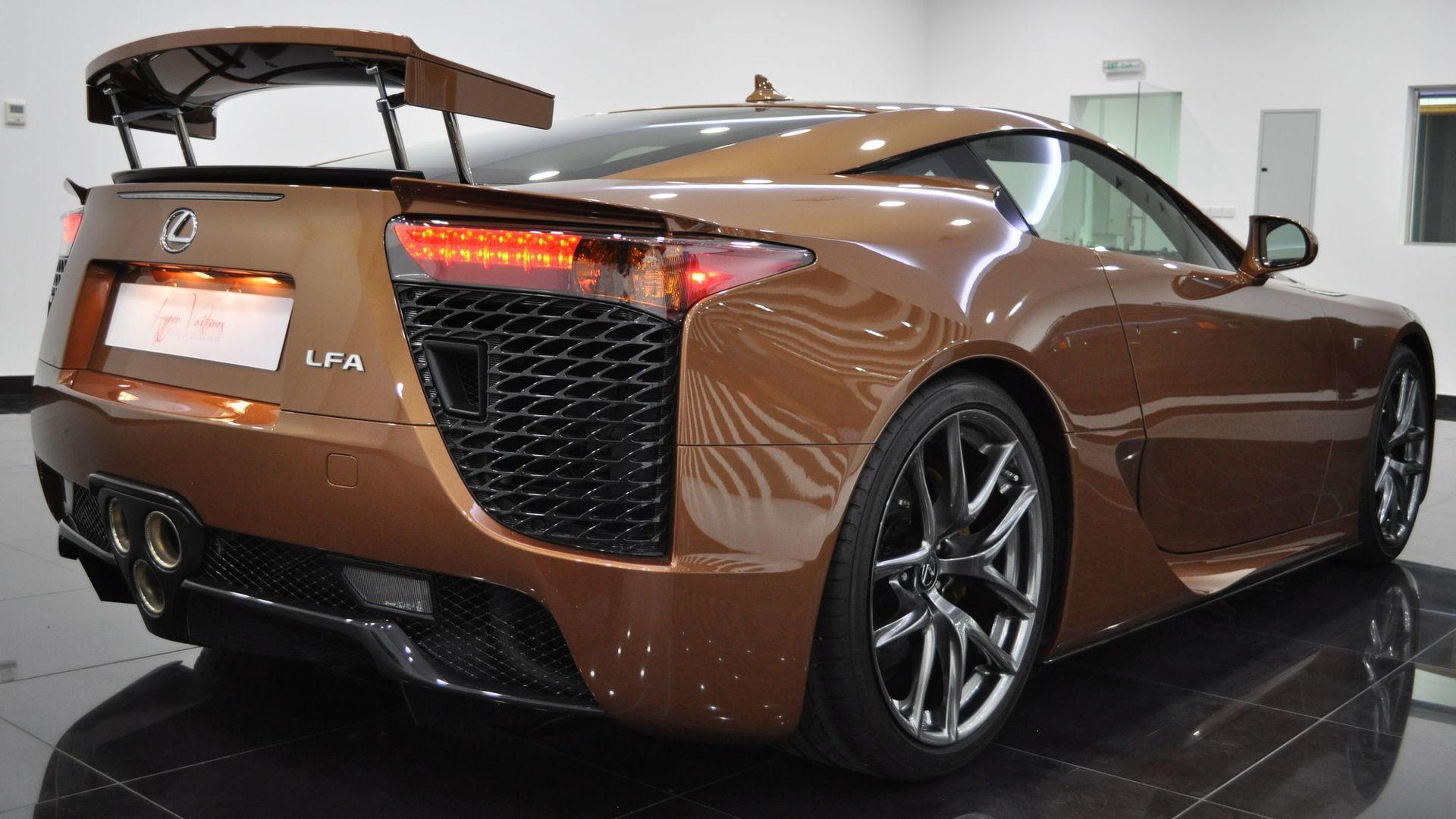 e f Lexus LFA Looks Magnificent In Pearl Brown autoevolution