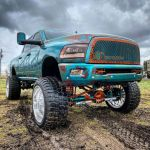 Lifted Dodge Ram On Tiny Car Wheels Can T Be Unseen Does Snow Burnouts Autoevolution