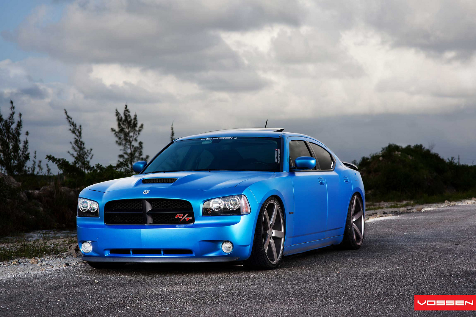 Matte Blue Dodge Charger On Vossen Wheels Is Very Much