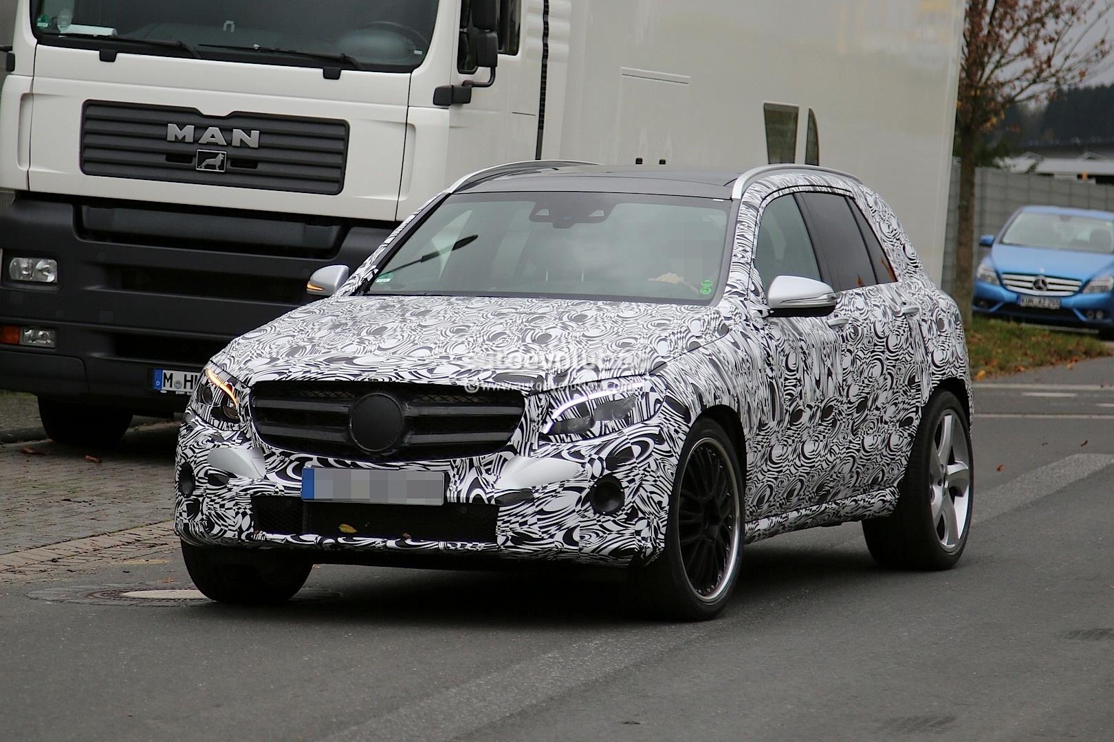 Mercedes Benz GLC63 AMG First Spyshots GLK Successor With