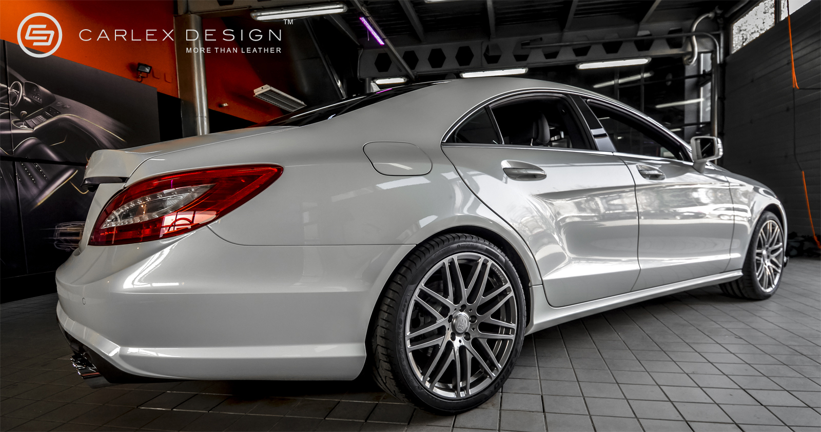 Mercedes CLS White Pearl By Carlex Design Autoevolution