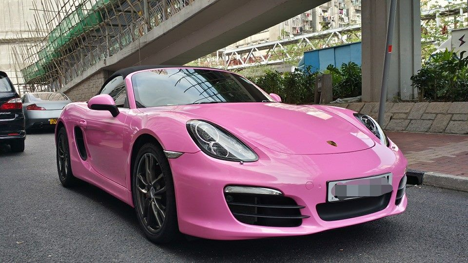 New Porsche Boxster S Wrapped In Pink For Hong Kong