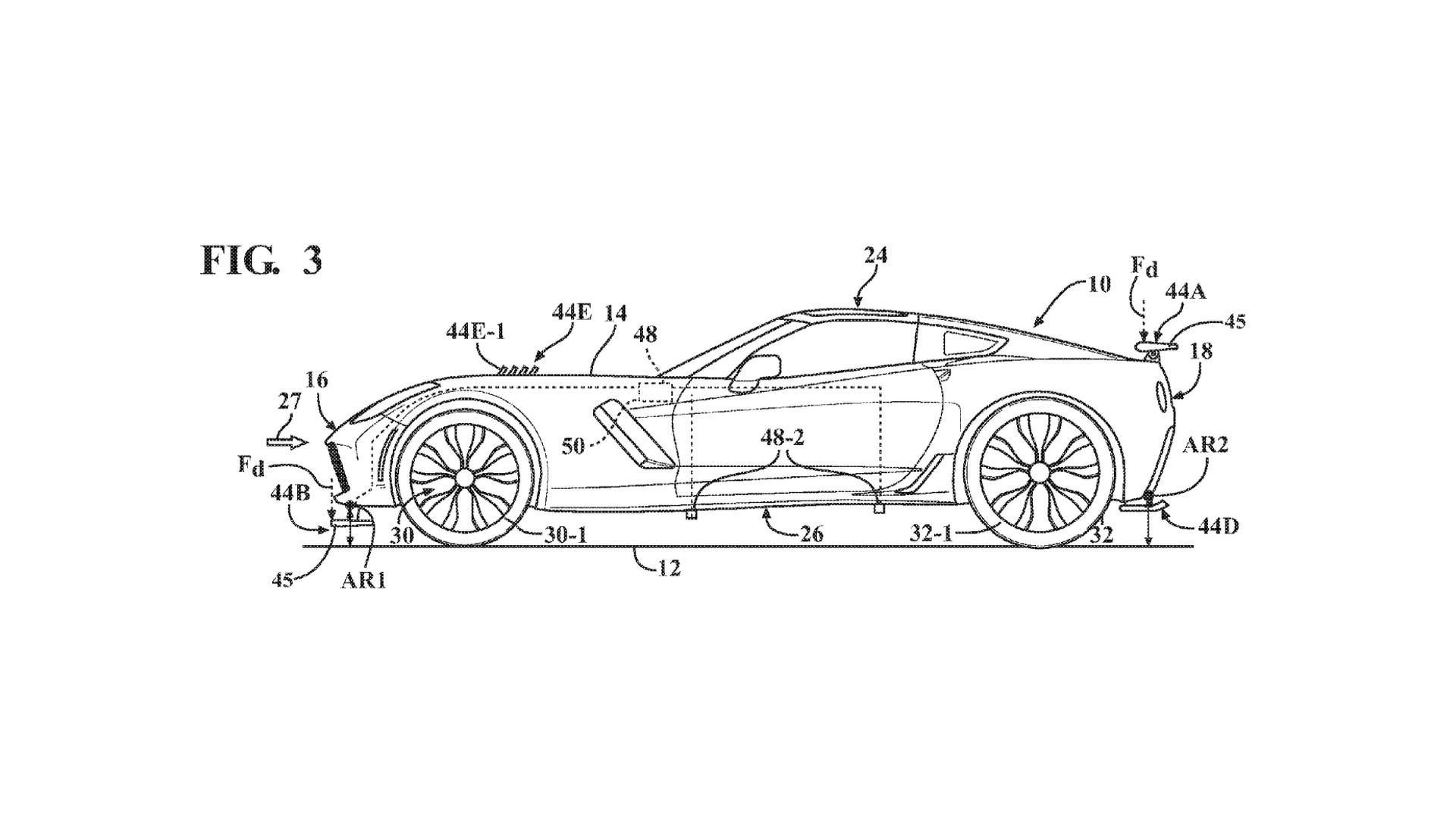 Patent Filling Reveals Chevrolet Is Working On Active Aero For The Corvette