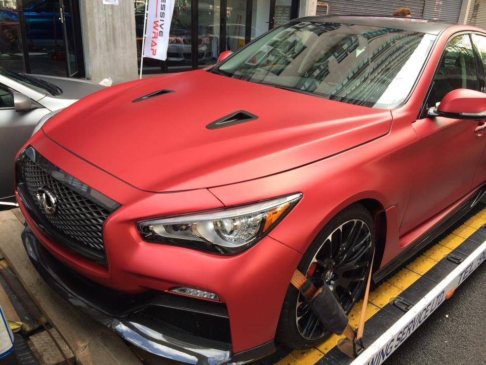 Scoop Infiniti Q50 Eau Rouge Was Wrapped In Vinyl For