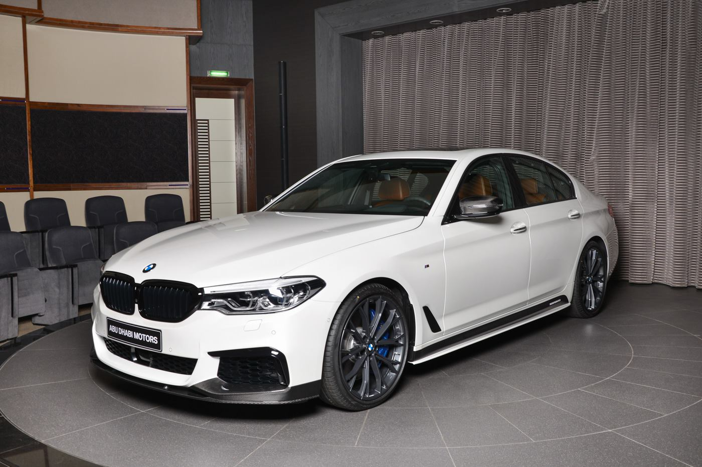 White BMW M550i XDrive With M Performance Body Kit Is A