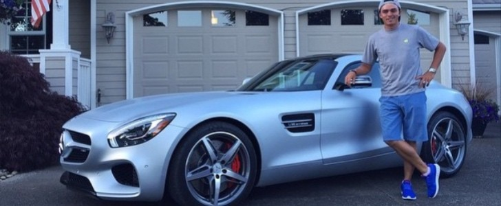 Golfer Rickie Fowler Is Rolling In This Silver Mercedes