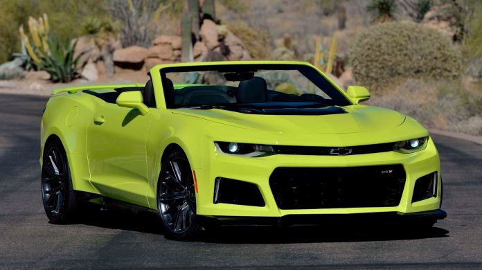 High Spec Shock Yellow Chevrolet Camaro Zl1 Convertible Up For Grabs Autoevolution