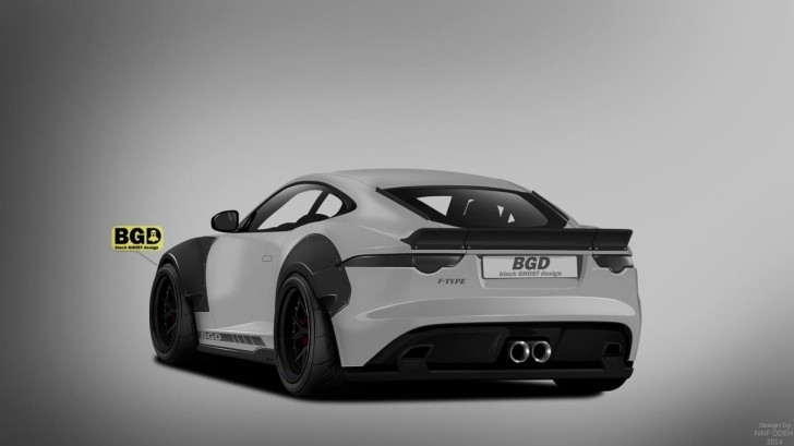 Jaguar F Type Coupe Rendered With Liberty Walk Wide Body