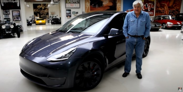 Jay Leno Seems Completely Sold On Teslas In Half Hour Model Y Test Drive Autoevolution