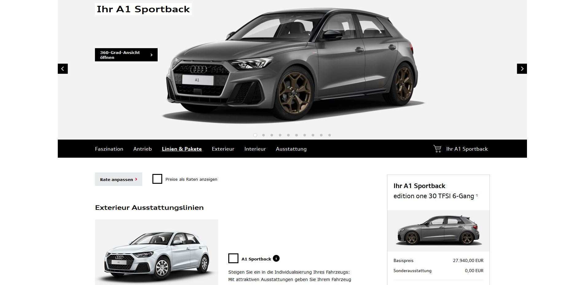 New Audi A1 Configurator Launched Only Has 1 Liter Engine