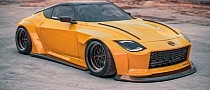 Nissan 400Z Concept Gets Widebody and Rocket Bunny Makeovers