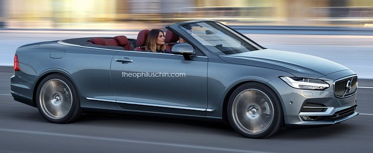Volvo C70 Convertible Rendering Has Cloth Top And S90