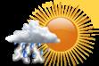 Ícone de condição de tempo: Possibilidade de Pancadas de Chuva