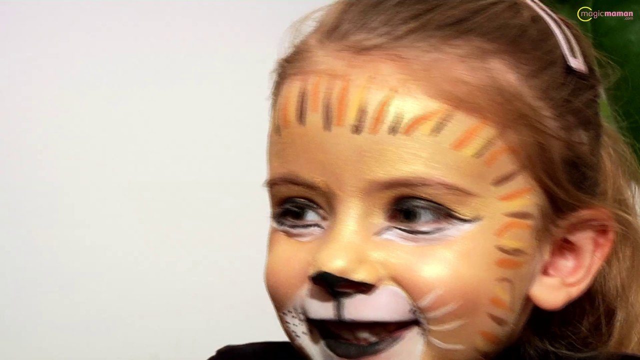 tutoriel maquiller son enfant en lion