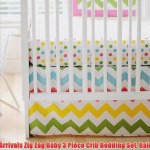 New Arrivals Zig Zag Baby 3 Piece Crib Bedding Set Rainbow Video Dailymotion