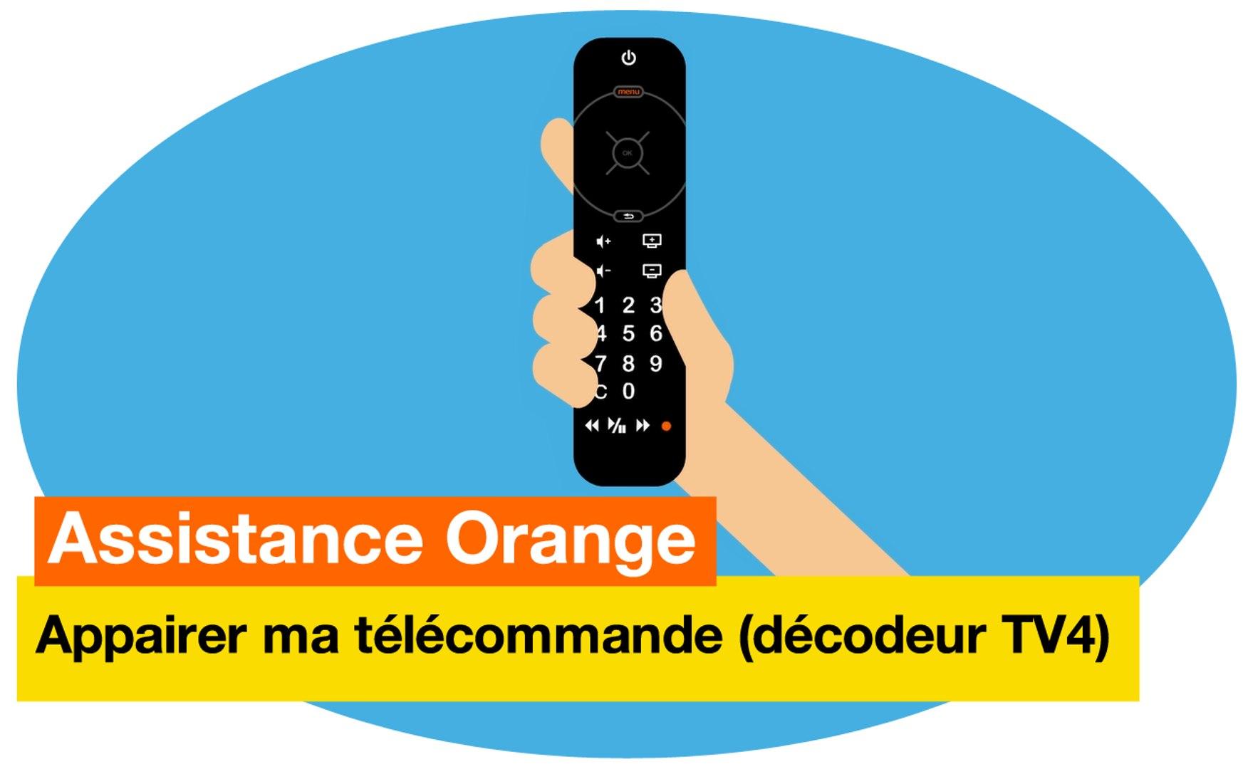assistance orange j appaire ma telecommande decodeur tv4 orange