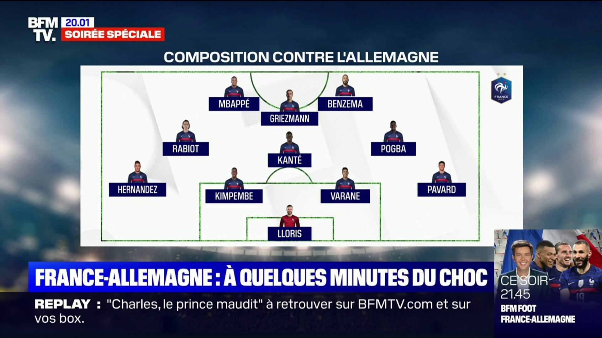 Équipe De France Euro 2021 Dispositif : Voici La Composition De L Equipe De France Pour Son Match Contre L Allemagne Video Dailymotion