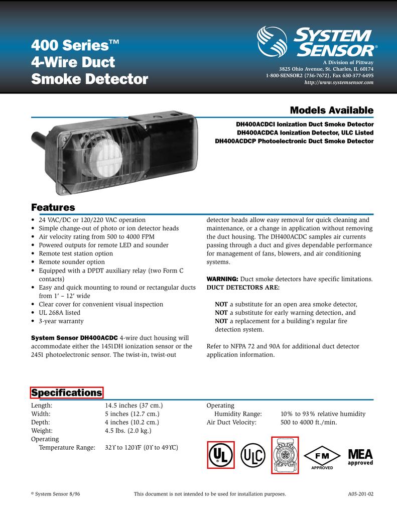 Smoke Detector 2151 Wiring Diagram Detailed Schematics 2wire Position Sensor