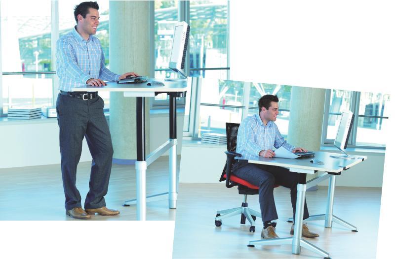 le bureau assis debout s adapte a la morphologie des collaborateurs et leur offre