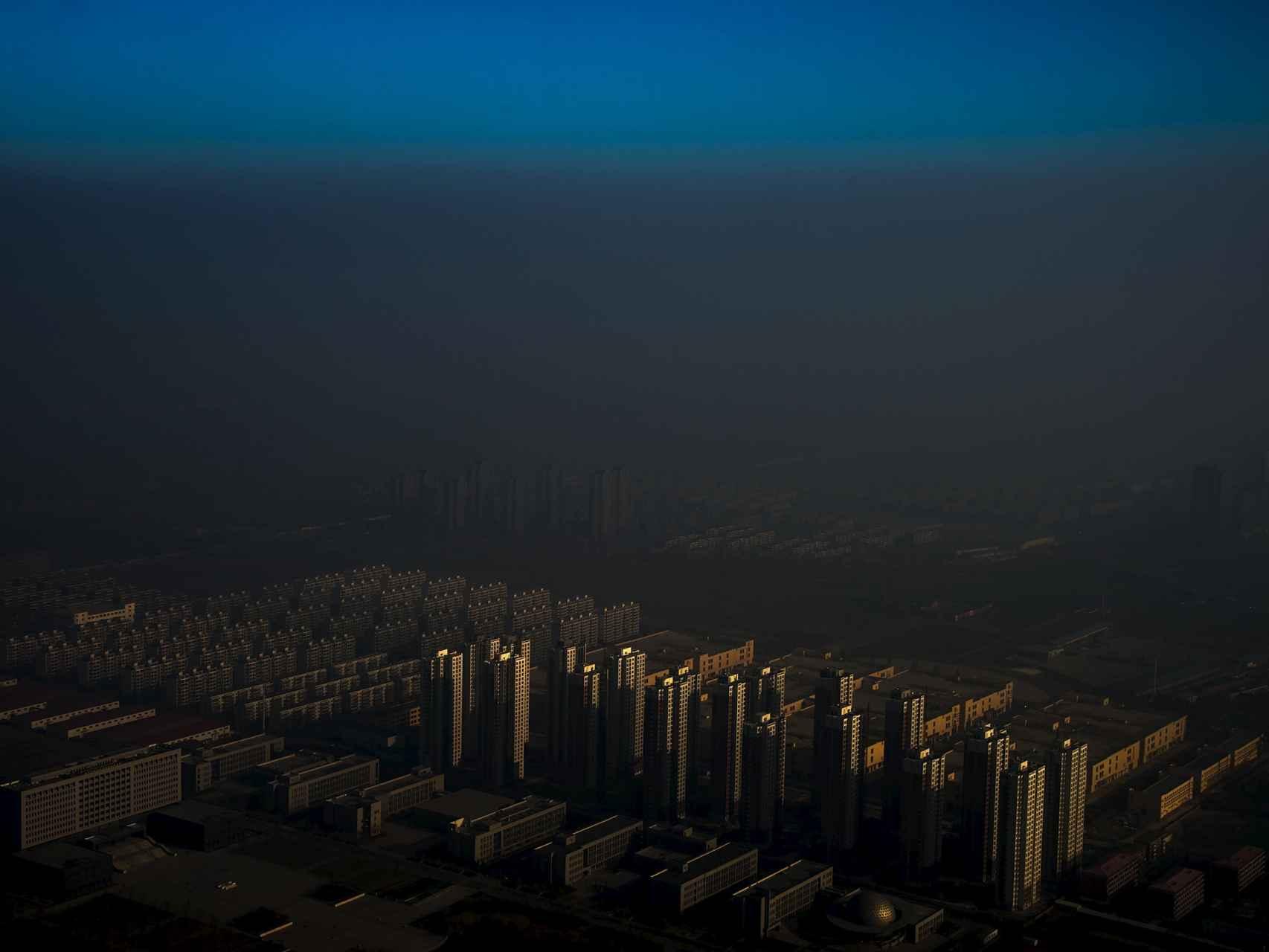 Calima (contaminación) en Tiajin, China.
