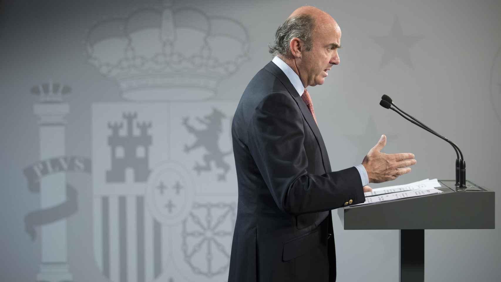 El ministro de Economía en funciones, Luis de Guindos