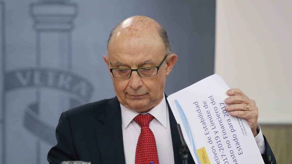 Cristóbal Montoro en un Consejo de Ministros.