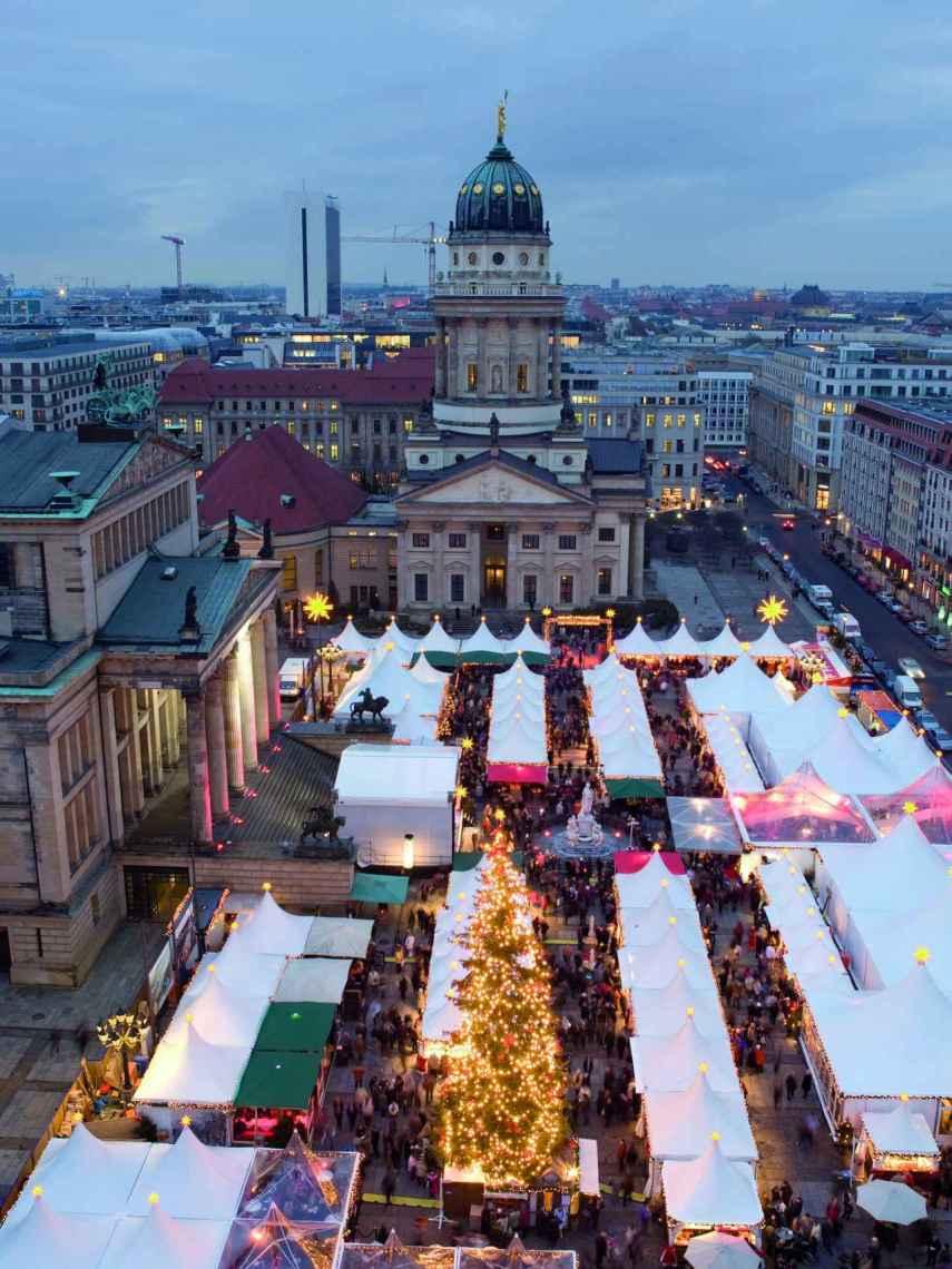 El Gendarmenmarkt, uno de los mercadillo navideños más famosos de Berlín.