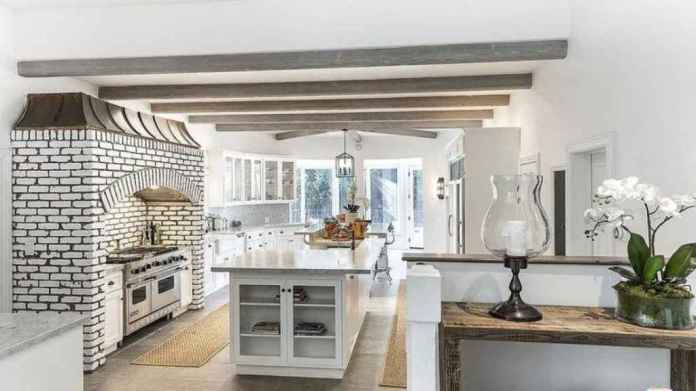 The kitchen of the new home of Selena Gomez has two central islands.