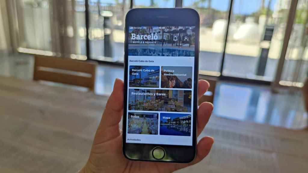 Aplicación en hotel
