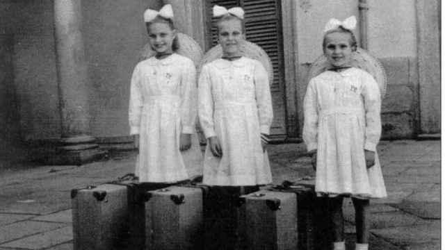 Martha, Elene e Ingrid, nada más llegar a España.
