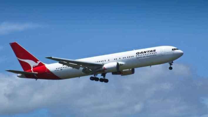 Qantas VH-OGJ, el avión de Amazon en su época de transporte de pasajeros