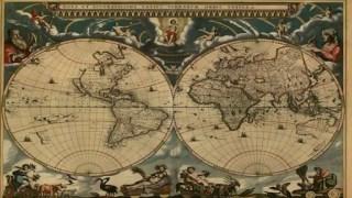 Antiguo mapa del globo terráqueo.