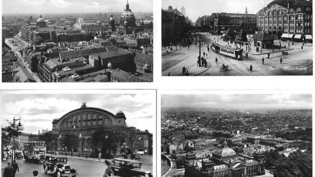 Postales de Berlín cedidas por el autor, en la esquina inferior derecha el Reichstag antes de su incendio.
