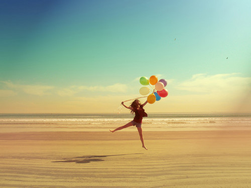 balloons, beach, fashion, girl, hair