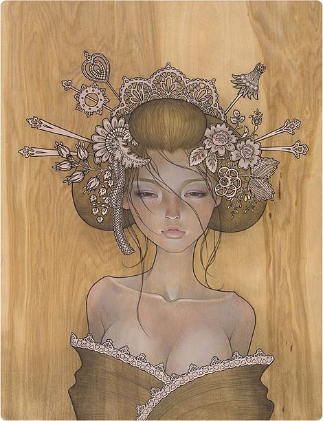 art, asian, audrey kawasaki, beautiful, drawing