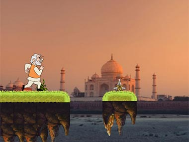 Screengrab of the Modi run game.
