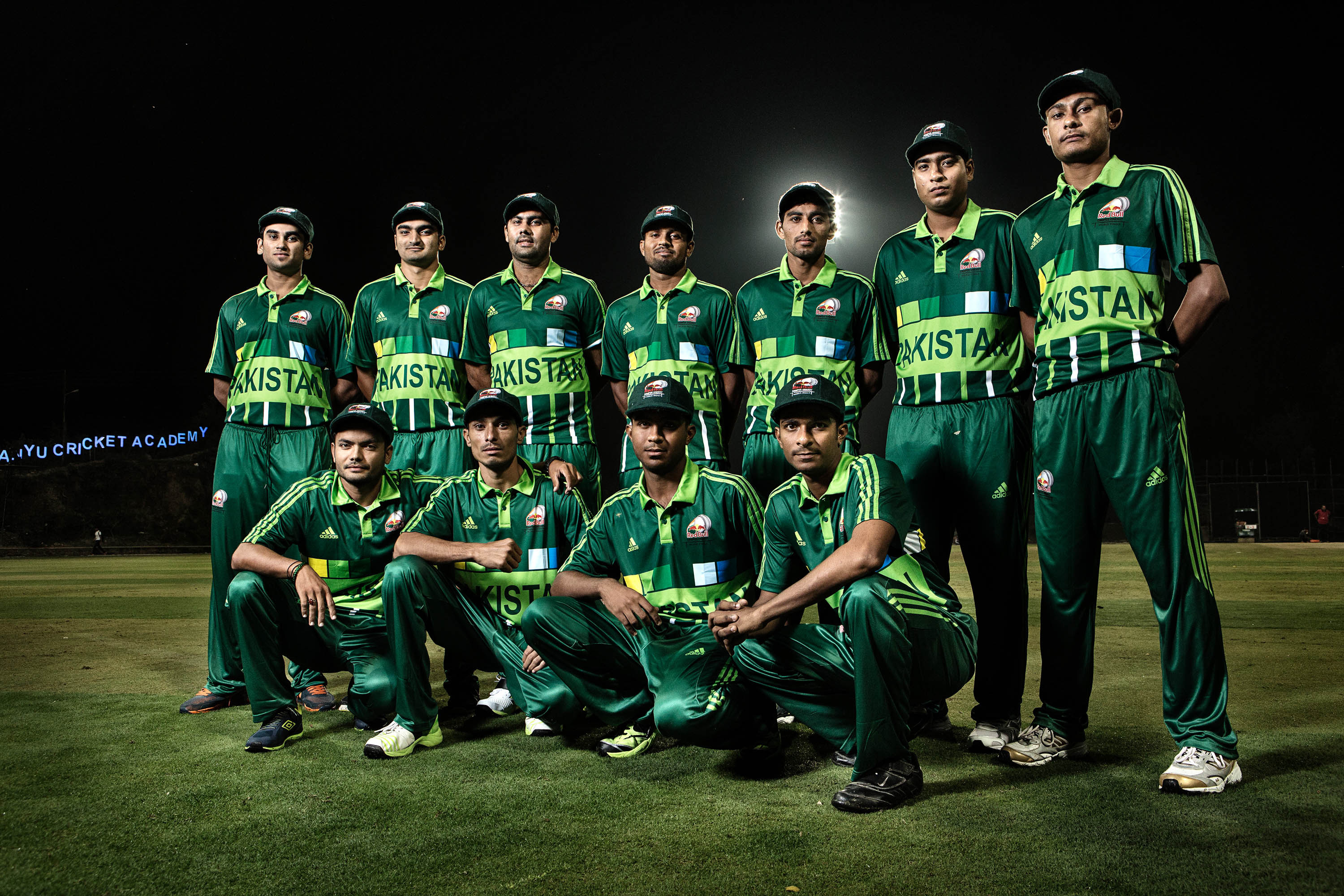 Team Pakistan posing for a portrait at Red Bull Campus Cricket in Dehradun, India on 19 October 2015