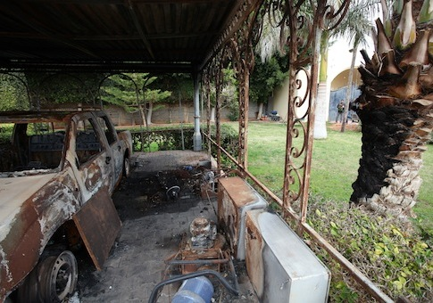 Some of the american consulate burnt cars, in Benghazi, Libya / AP