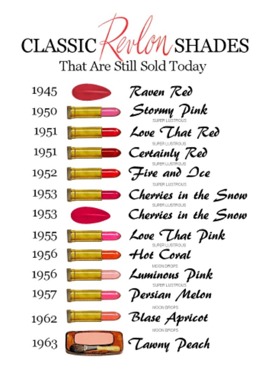 Classic Revlon Reds