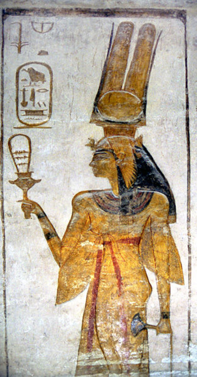 Nefertari with sistrum