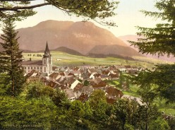 The small town of Mariazell and the Basilica around 1900.