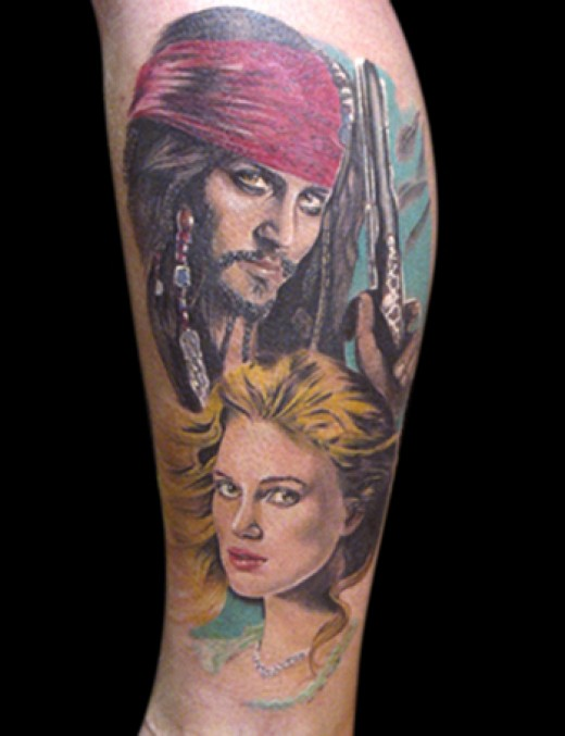 Yes I hear ya all cry aloud, a pirate tattoo of the Captain is no good if he